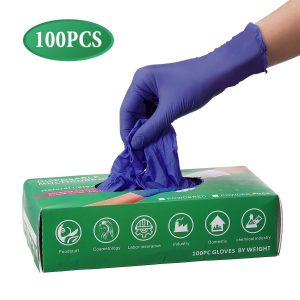 guante nitrilo sin polvo aislante de elementos y coronavirus