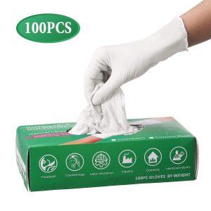 guantes latex sin polvo aislantes de factores externos y coronavirus humano